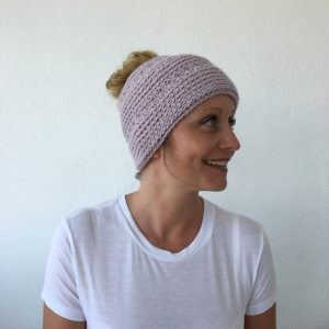 Crocheted Messy Bun Hat