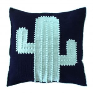 Crocheted Cactus Cushion