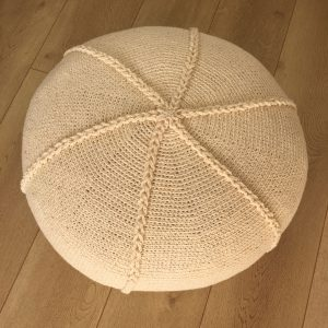 Crocheted Braided Pouf