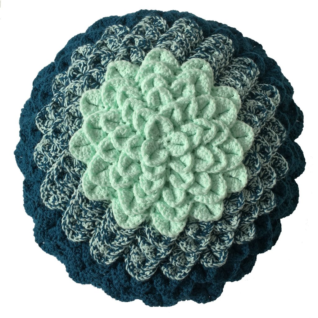 crochet plant Cushion