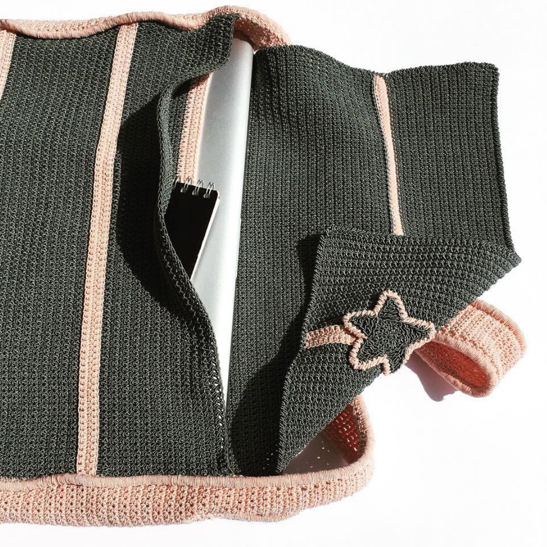 Crocheted Computer Bag