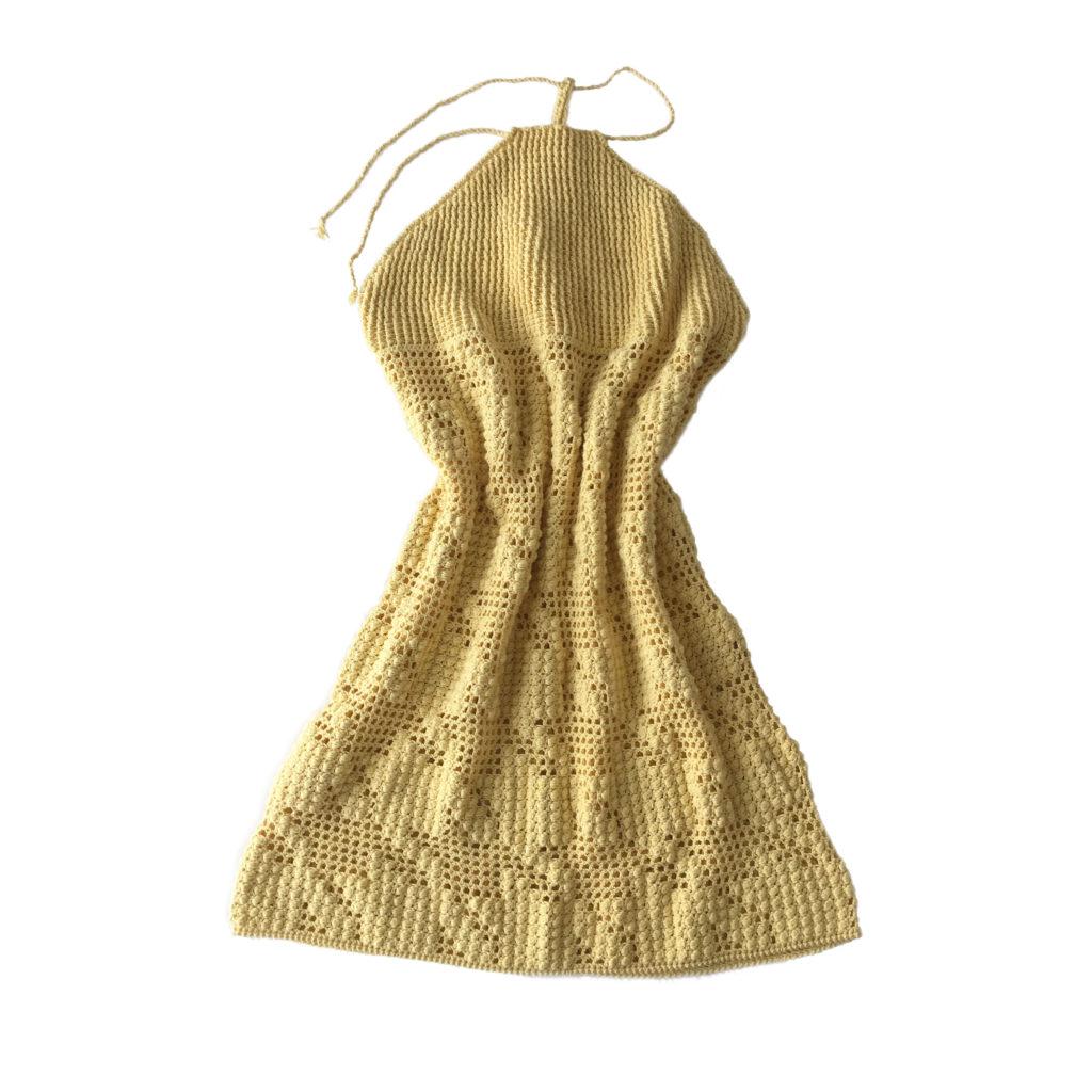 Crocheted beach dress
