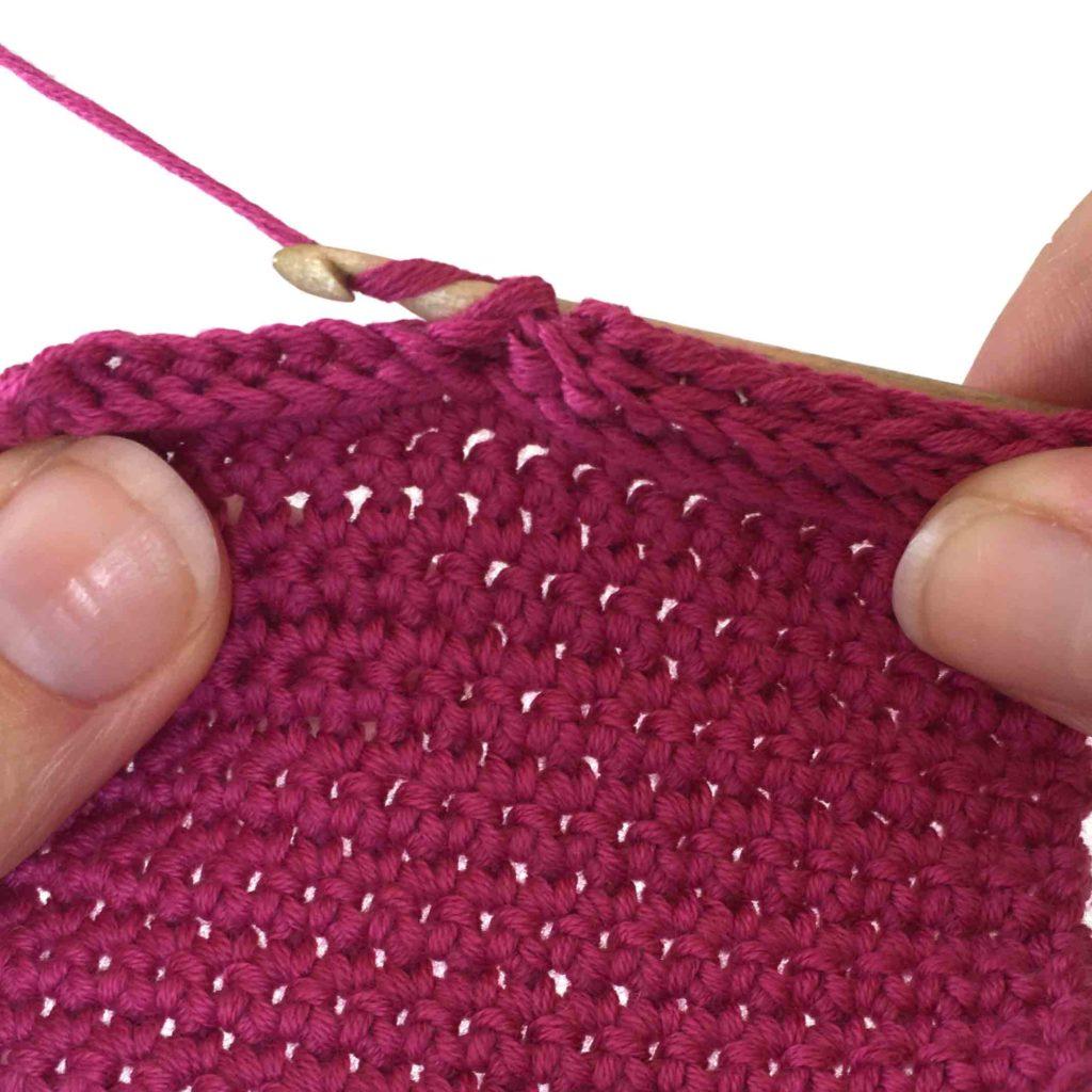 backpost single crochet