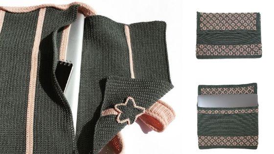 Crocheted Laptop Sleeve & Bag