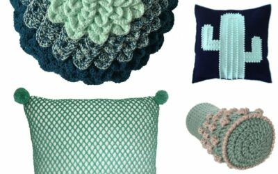 Crochet Green Cushions