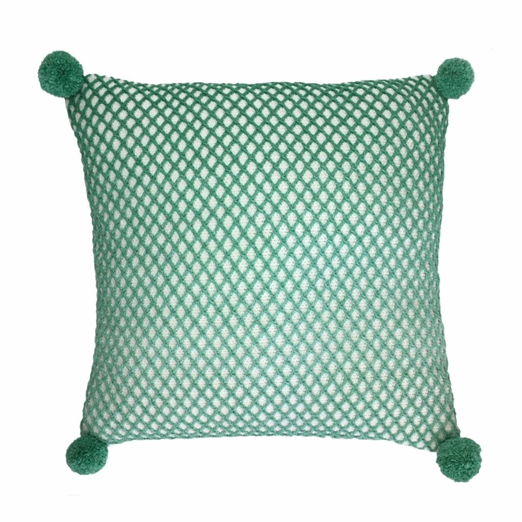 Crocheted Diamonds Cushion
