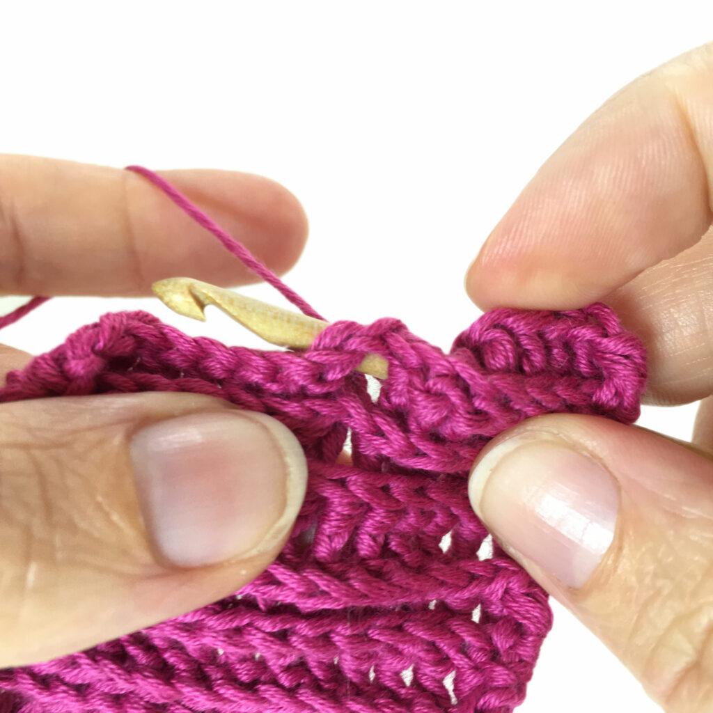 backpost double crochet